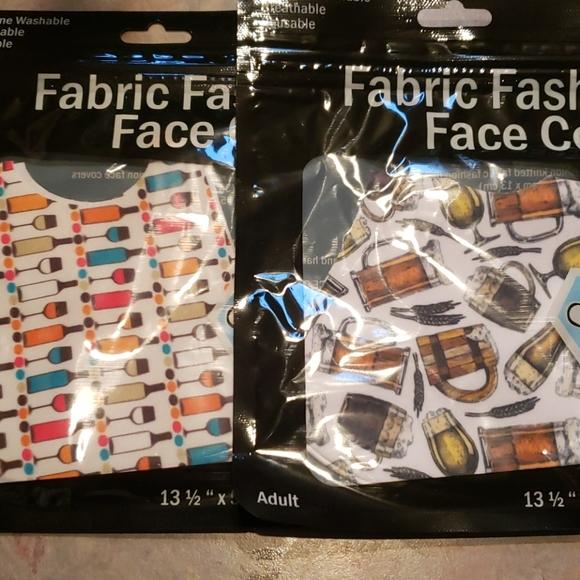2 fabric face masks